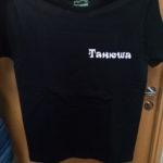 имя спереди на футболке