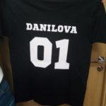 футболка с номером на спине